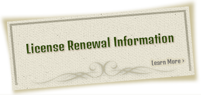 License Renewal Information - Learn More