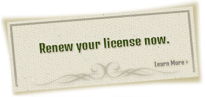 License Renewal - Learn More
