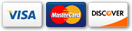 Pay with Visa, Mastercard, or Discover