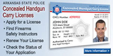 Concealed Handgun Carry License. Learn More.
