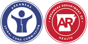 Arkansas Spinal Cord Commission and Arkansas Department of Health Logo
