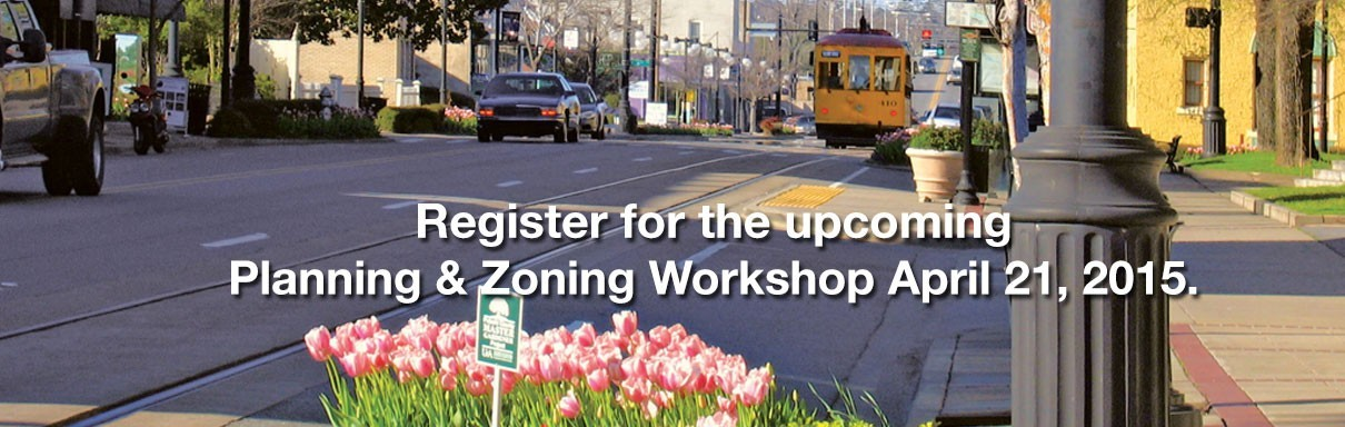 Click here to register online for the April Land Use Seminar.