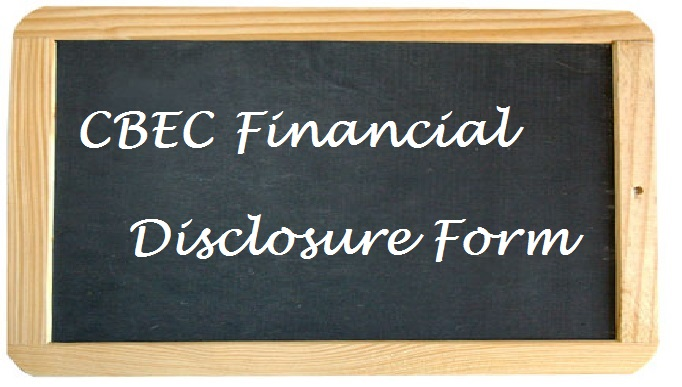 Click Here for the CBEC Financial Disclosure Form