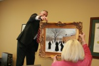 RB McGrath Painting in Office—Monks of Clear Creek Abby