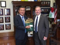 Korean Delegation with Ambassador Consul General Joohyeon Baik Visits Capitol
