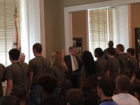 Arkansas National Guard Enlistment Ceremony