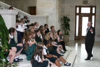 Calvary Academy, Episcopal 5th graders and NFIB Visiting the Capitol