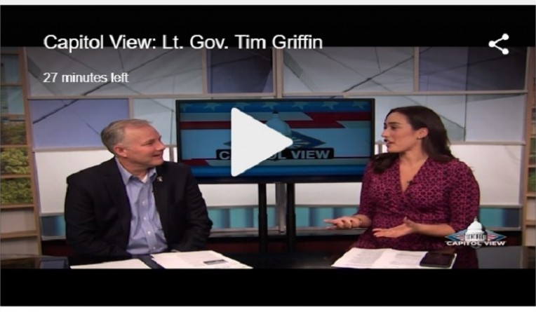 Lt. Gov. Griffin Previews the Upcoming Legislative Session on KARK's Capitol View