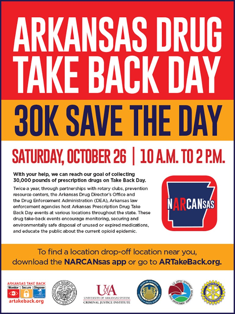 Arkansas Prescription Drug Takeback Event 2019