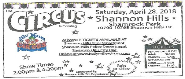 Shannon Hills Circus 2018