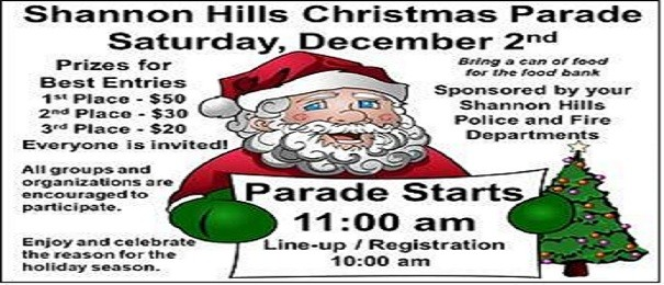 Shannon Hills Christmas Parade